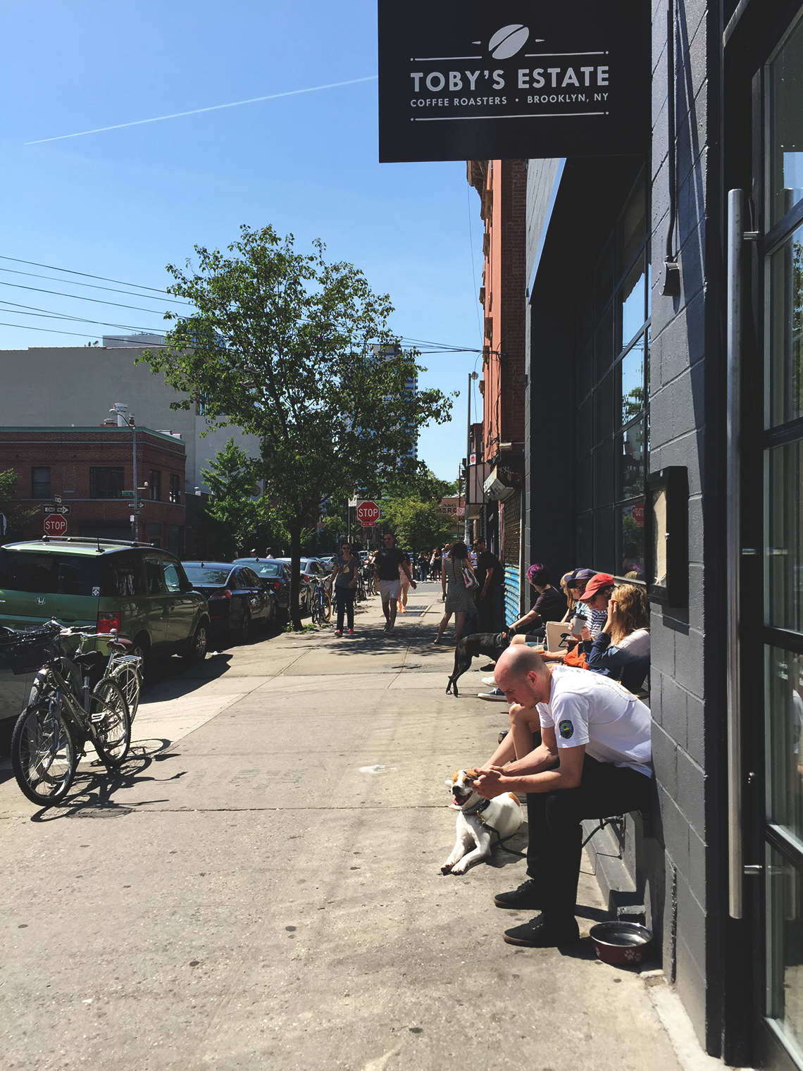 tobys estate coffee, williamsburg | outdoor seating summertime
